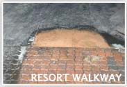 Resort Walkway Floor Restoration